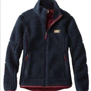 L.L. Bean Women's Fuzzy Fleece Zip-Up Jacket NWOT